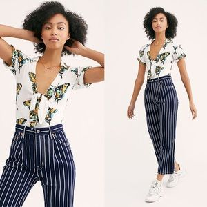 Free People Ready, Set, Sail Tie Front Crop Top